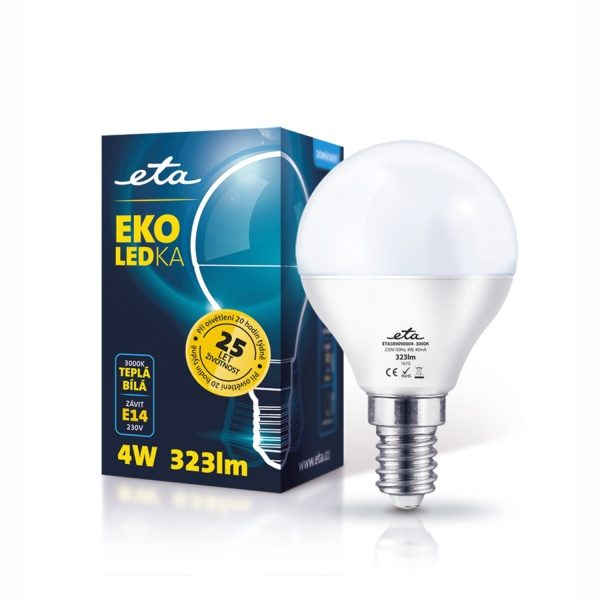 LED-Lampe ETA EKO LED Mini Globe, 4 W, E14, warmweiß