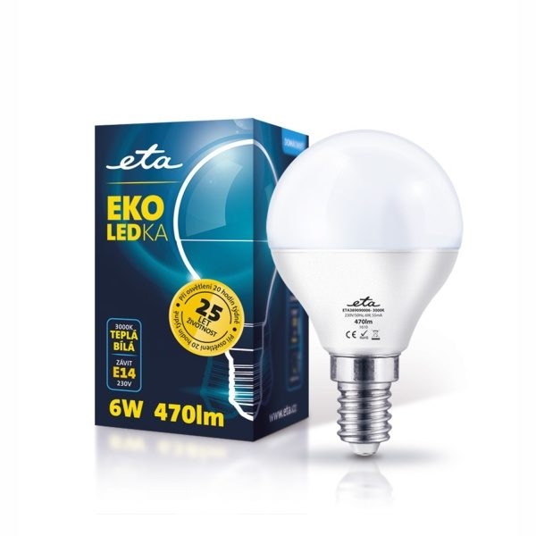 LED-Lampe ETA EKO LED Mini Globe, 6 W, E14, warmweiß
