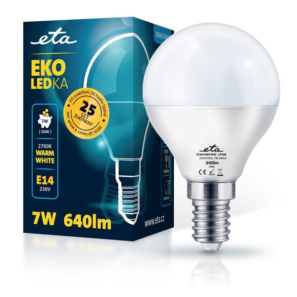 LED Lampe ETA EKO LEDka mini globe 7W, E14, warmweiß