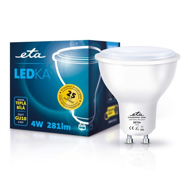 LED-Lampe ETA EKO Punkt-LED, 4 W, GU10, warmweiß